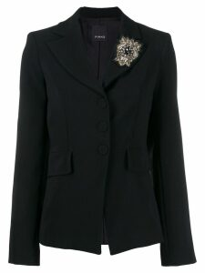 Pinko crystal single-breasted blazer - Black