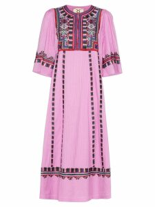 Figue Electra embroidered dress - Pink