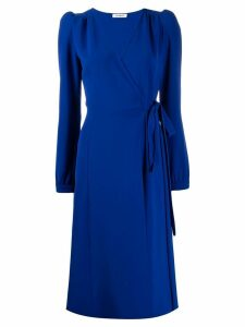 P.A.R.O.S.H. fitted wrap dress - Blue