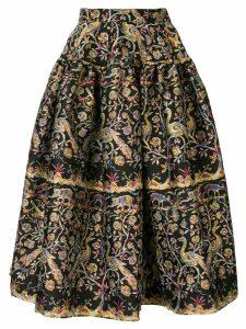Marques'Almeida garden print midi skirt - Black