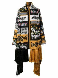 Oscar de la Renta floral print oversized coat - Multicolour