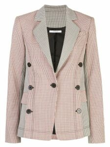 Derek Lam 10 Crosby checked button-embellished blazer - Orange