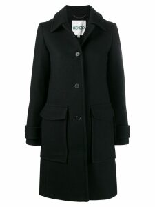 Kenzo single-breasted wool coat - Black