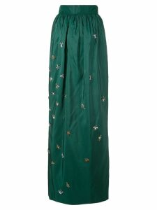 Carolina Herrera embellished fitted skirt - Green
