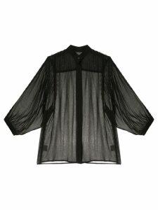 Manning Cartell semi-sheer shirt - Black