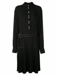 Proenza Schouler PSWL Crepe Drop Waist Dress - Black