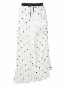 Proenza Schouler PSWL Grateful Dead Bear Pleated Skirt - White