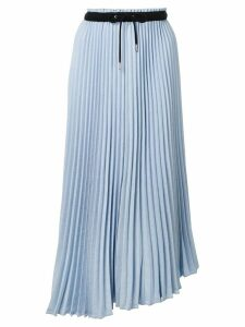 Proenza Schouler PSWL Crepe Pleated Midi Skirt - Blue