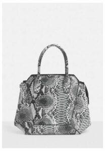 Grey Snake Handbag, Grey