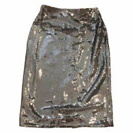Glitter mid-length skirt