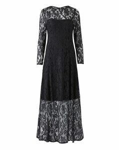 Joanna Hope Black Lace Maxi Dress