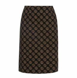 ALine Textured Spot Skirt