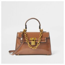 River Island Womens Dark Beige mini tote bag