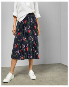 Hedgerow Pleated Midi Skirt