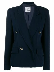 Moschino Pre-Owned double-breasted blazer - Blue
