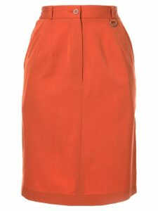Christian Dior Pre-Owned short straight skirt - Brown