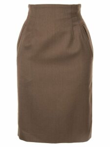 Christian Dior Pre-Owned straight short skirt - Brown