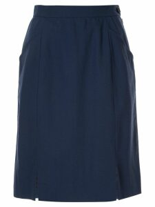 Yves Saint Laurent Pre-Owned straight short skirt - Blue