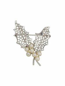 Susan Caplan Vintage 1960's Trifari brooch - Silver