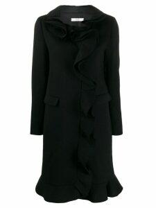 Prada Pre-Owned 2000's Prada ruffle coat - Black