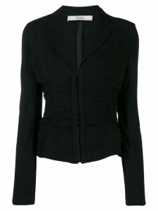 Prada Pre-Owned 1990's ruched blouse - Black