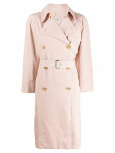 Hermès Pre-Owned 1990's trench coat - Pink