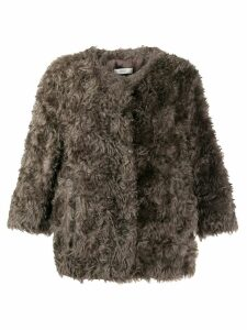 Prada Pre-Owned 1990's Prada faux-fur coat - Grey