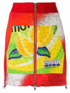 Moschino Pre-Owned 1990's soda print mini skirt - Yellow