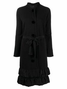 LANVIN Pre-Owned 2006 ruffled midi coat - Black