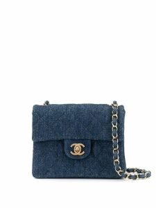 Chanel Pre-Owned denim chain shoulder bag - Blue