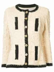 Chanel Pre-Owned textured collarless jacket - Neutrals
