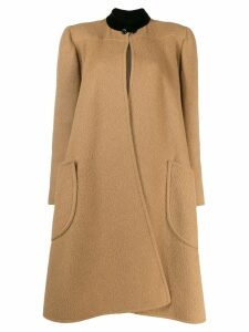 Valentino Pre-Owned 1980's wool midi coat - Brown