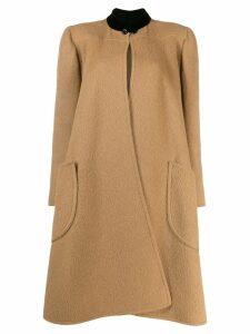 Valentino Pre-Owned 1980's wool midi coat - Brown
