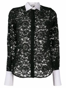 Valentino Pre-Owned 2000's floral lace shirt - Black