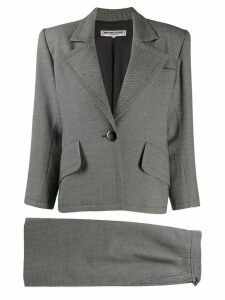 Yves Saint Laurent Pre-Owned 1980's structured shoulders blazer - Grey
