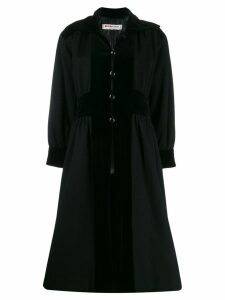 Yves Saint Laurent Pre-Owned 1980's buttoned midi coat - Black