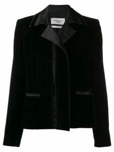 Yves Saint Laurent Pre-Owned 2000's contrasting details jacket - Black