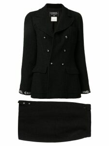 Chanel Pre-Owned Set Up Suit Jacket Skirt - Black