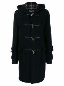 Burberry Pre-Owned 1970's toggle fastening hooded coat - Blue