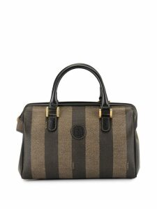Fendi Pre-Owned Pequin pattern tote - Brown