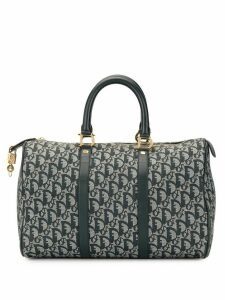 Christian Dior Pre-Owned Boston Trotter pattern tote - Grey
