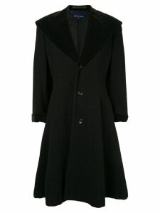 Comme Des Garçons Pre-Owned exaggerated lapel flared coat - Black