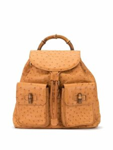 Gucci Pre-Owned textured drawstring backpack - Brown