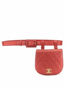 Chanel Pre-Owned diamond quilted CC belt bag - Red