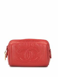 Chanel Pre-Owned CC Logos Mini Multi Pouch - Red