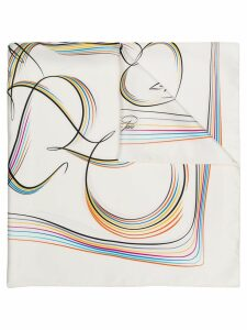 Hermès Pre-Owned 2000s rainbow print scarf - White