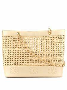 Chanel Pre-Owned basket chain shoulder bag - Brown