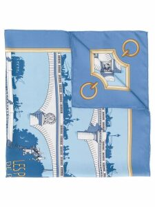 Hermès Pre-Owned 2000's bridge print scarf - Blue