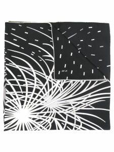 Hermès Pre-Owned 2000's fireworks print scarf - Black
