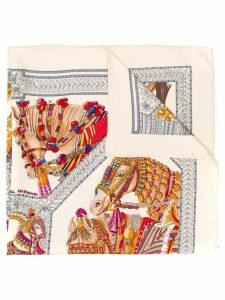 Hermès Pre-Owned 1990's horses print scarf - Neutrals